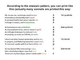 Sonnet Pattern