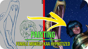 Creating your own adorable anime character is a cinch! Artstation Female Mowgli Kaa Hypnotized Commissions Open Ladykraken Commissions Open