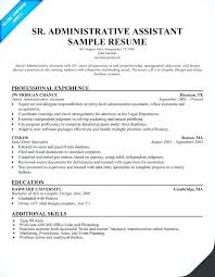 Sample Resume For Administrative Assistants Administrative Executive Resume Putasgae Info