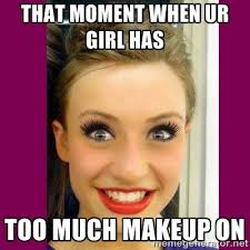 wearing too much makeup es esgram