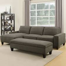sofa with ottoman chaise. Wonderful With Orion 2 Piece Grey Fabric Sofa Chaise With Storage Ottoman With