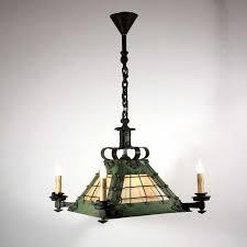 arts and crafts chandelier unique large antique arts crafts eight light iron chandelier