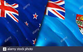 Fiji flags. 3D Waving flag design ...