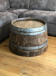 wine barrel coffee table whisky barrel