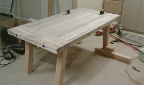 pottery barn bench style office desk rustic. Pottery Barn Benchwright Farmhouse Dining Table Bench Style Office Desk Rustic