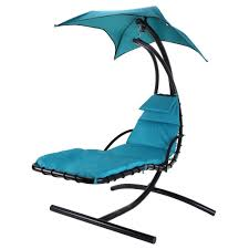 com palm springs outdoor hanging chair recliner swing air chaise longue teal garden outdoor