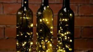turn empty wine bottles into gorgeous accent lights
