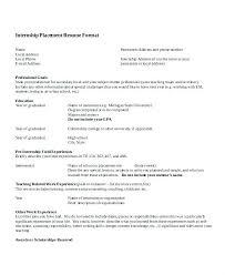 Summer Internship Cv Example Cover Letter Format From Supervisor ...