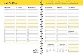 School Calendar Template 2020 17 2020 You Are A Badass Organized Living Monthly Weekly Planner