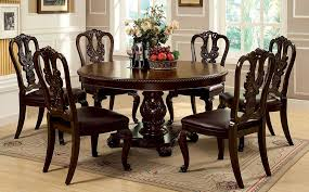 furniture of america cm3319rt w sc set bellagio round dining black round dining room table