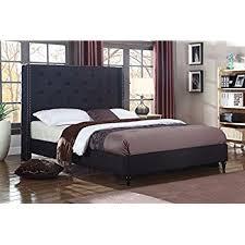 Amazoncom Home Life Premiere Classics Cloth Light Beige Cream Linen Platform Bed