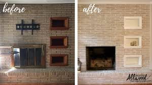 painted brick fireplace before after the magic brush