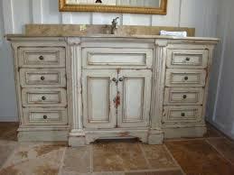 rustic white bathroom vanities. Contemporary Rustic Distressed White Bathroom Vanity Large  With Sink On Ceramic Floor Tile In Rustic White Bathroom Vanities B