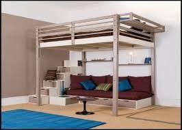 amazing queen loft bed frame
