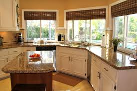 Long Curtains In Kitchen Small Kitchen Island Set In The Middle Part Surronding Kitchen Set