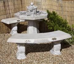 japanese outdoor furniture. Borderstone Japanese Garden Patio Set Outdoor Furniture N