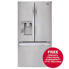 lg refrigerator lfxs29766s. lg 29-cu.-ft. 3-door french door refrigerator with dual ice dispenser - stainless steel lg lfxs29766s n