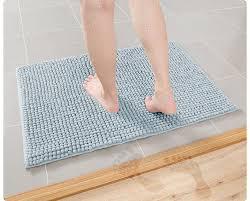 walensee nonslip bath rugs 18x24high density washable nonslip bath mats super soft bathroom mats light blue