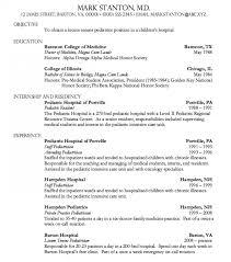 Resume For Pediatrician Diff