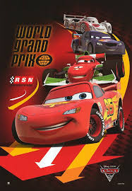 cars 2 the movie cover.  Cars CARS 2 POSTER With Cars The Movie Cover