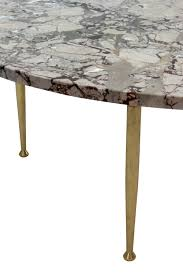 Italian Coffee Tables Marble Elegant Coffee Table In Marble With Brass Legs Lobel Modern Nyc