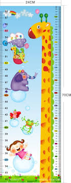 Wallpaper Measuring Chart Free Shipping Giraffe Kids Growth Chart Height Measure For