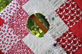 7 best Christmas Tree Skirt images on Pinterest | Christmas tree ... & New Listing-Square, Rag Quilted -Christmas Tree Skirt- Reversable for a  Smoother Look- Perfect Accent for a Rustic Christmas Adamdwight.com