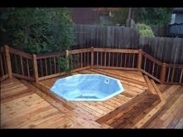 cool outdoor hot tub deck ideas outdoor hot tub d96