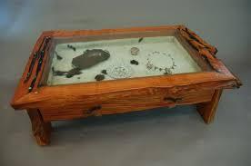... Glass Top Display Coffee Table Rustic ...
