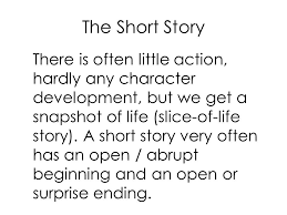 english language arts level ms walker today s objectives  the short story there is often little action hardly any character development but we