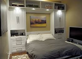 image of large queen murphy bed
