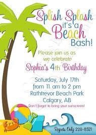 Children Birthday Invitations Beach Themed Kids Birthday Party Party Birthday Invitation