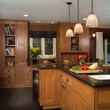 Kitchen Floor Cupboards Hickory Kitchen Cabinets Kitchen Traditional With Cabinet
