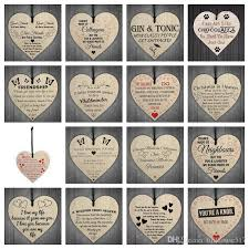 wooden heart shaped hanging gift plaque pendant family friendship love sign wine tags tree small hanging hearts decor paper decorations