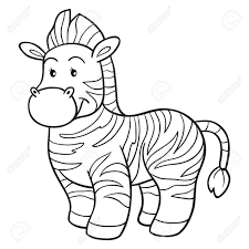coloring book zebra stock vector 33960664