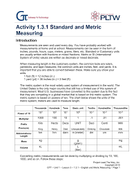 Activity 1 3 1 English And Metric Measuring