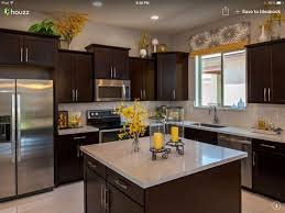 Dark Cabinets With Light Granite..wayyy To Much Stuff Everywhere! Styling  Needs To