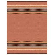 pueblo design terracotta black 5 ft x 8 ft area rug