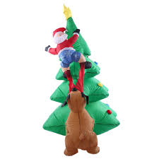 1.8m/70in Tall Inflatable Christmas Tree Santa Claus Dog Decor Sales Online  - Tomtop.com