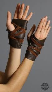 ready to ship dark brown leather hand wraps wonder woman