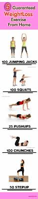 5 guaranteed weight loss exercise from home best weight loss programme