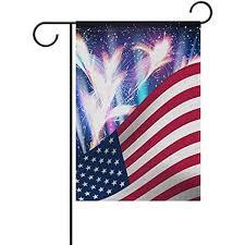 Amazon Com Staroind American Flag And Fireworks Print