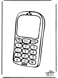 Phone Coloring Page Cell Phone Coloring P On Free Printable Surprise