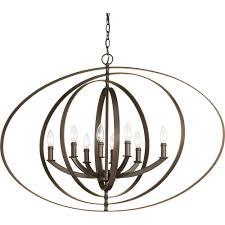 equinox 8 light antique bronze orb chandelier