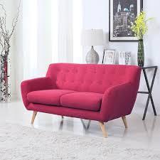 Light Blue Mid Century Sofa Buy Mid Century Modern Linen Blend Fabric Braeswood Sofa