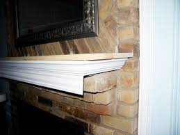 Mantel On Brick Fireplace Dear Internet Heres How To Build A Fireplace Mantel Do Or Diy