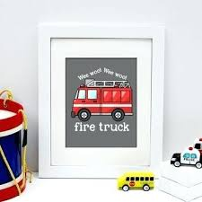 awesome and beautiful fire truck wall art interior designing home ideas decor modest design canvas