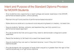move on when ready standard diploma provision ppt  3 intent