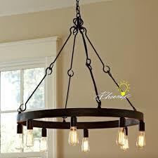 edison bulb lighting fixtures. Antique Edison Bulbs Iron Chandelier In Rusted Finish 7980 Bulb Lighting Fixtures