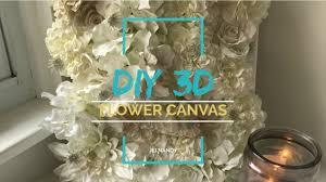 wall art diy 3d flower canvas